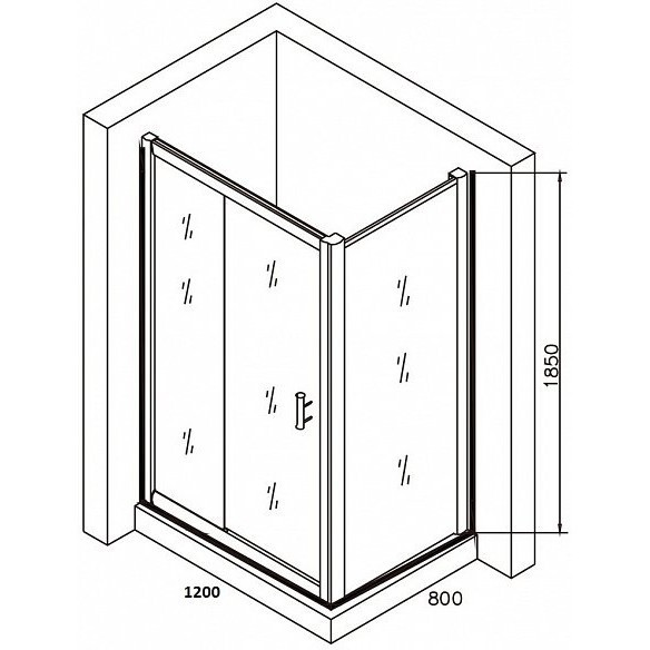 Poza Cabina dus seria Grid 120x80 cm dreptunghiular Belform. Poza 16617