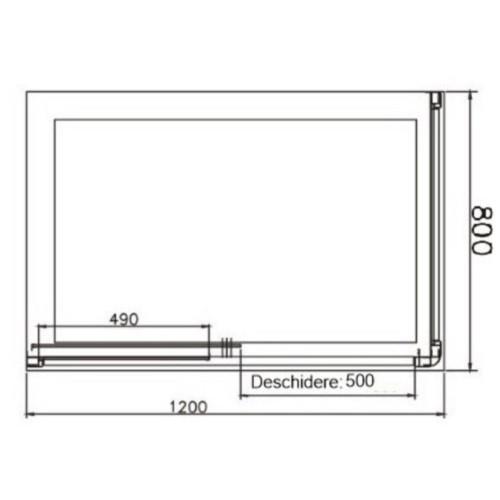Poza Cabina dus seria Grid 120x80 cm dreptunghiular Belform. Poza 16618