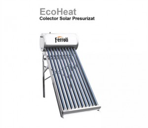 poza ECOHEAT 12- Panou solar presurizat din inox Ecoheat -12 tuburi si boiler 120L