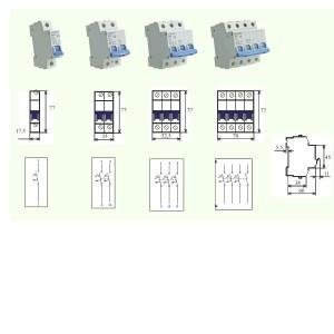 poza Intrerupator automat MCB BRT-4,5kA  25/1/C