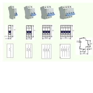 poza Intrerupator automat MCB BRT-4,5kA  63/1/C