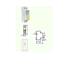 poza Intrerupator automat MCB 1M.4,5kA  16/1N/C  1 Modul