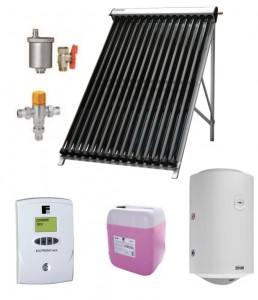 poza Pachet Solar Ecotube cu Boiler cu 2 serpentine ECOUNIT 300-2C WT- Tuburi Vidate