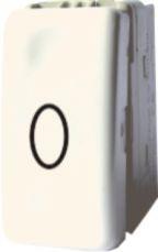 poza INTRERUPATOR MODULAR CU REVENIRE ALB 1009 STIL